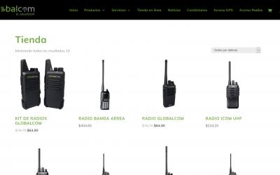 Tienda en línea de Radios de Comunicación Global Com El Salvador